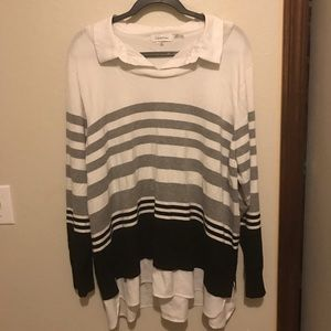 Calvin Klein button up and sweater combo PLUS SIZE